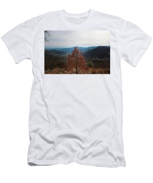 Hoarfrost On Fall Leaves Men's T-Shirt (Athletic Fit)