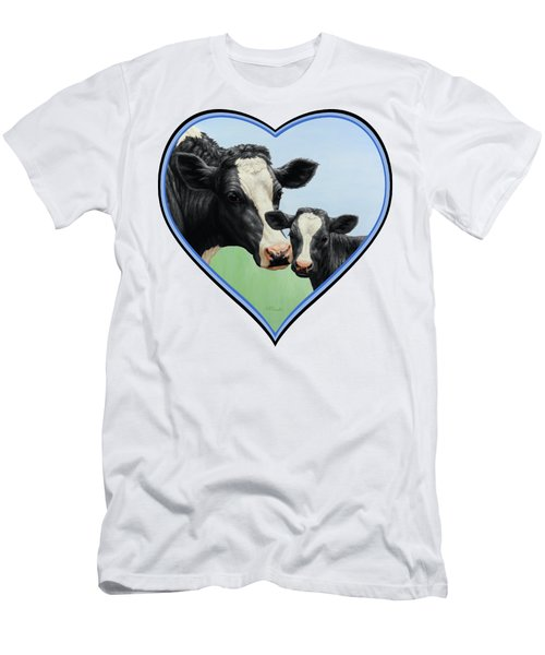 Holstein Cow And Calf Men's T-Shirt (Athletic Fit)