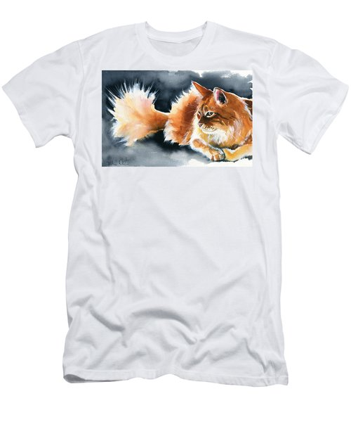Holy Ginger Fluff - Cat Painting Men's T-Shirt (Athletic Fit)
