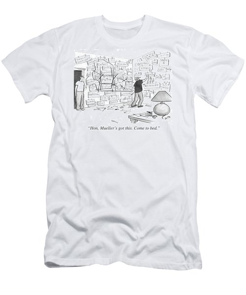 Hon, Mueller's Got This. Come To Bed. Men's T-Shirt (Athletic Fit)