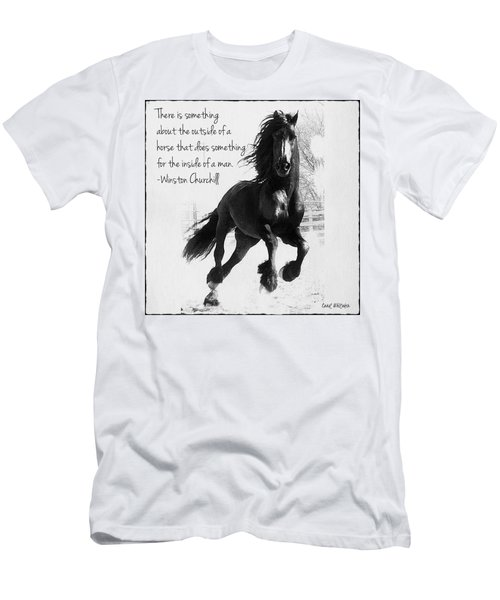 Horse's Profound Spirit  Men's T-Shirt (Athletic Fit)