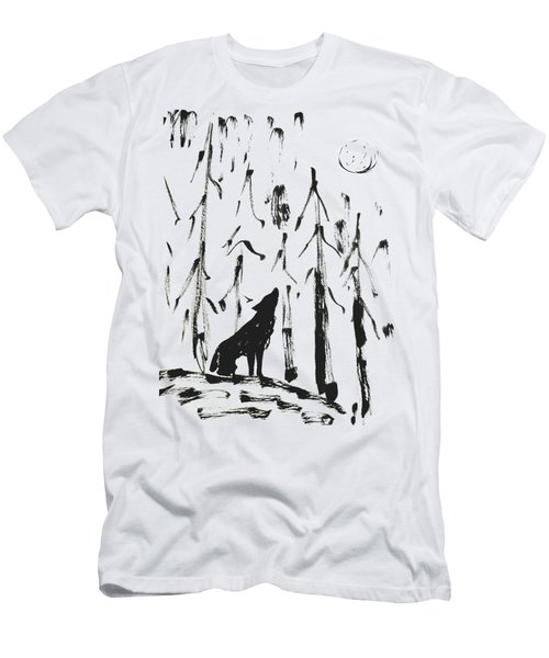 Men's T-Shirt (Athletic Fit) featuring the painting Howl #2 by Maria Langgle
