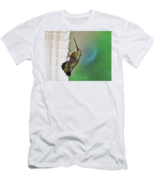 Men's T-Shirt (Athletic Fit) featuring the photograph Hummingbird by Steven Ralser