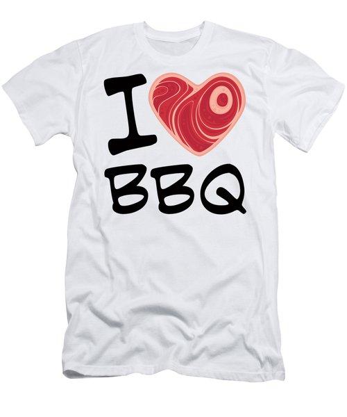 I Love Bbq Men's T-Shirt (Athletic Fit)
