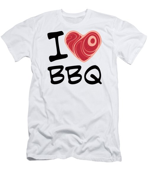 I Love Bbq Men's T-Shirt (Athletic Fit)
