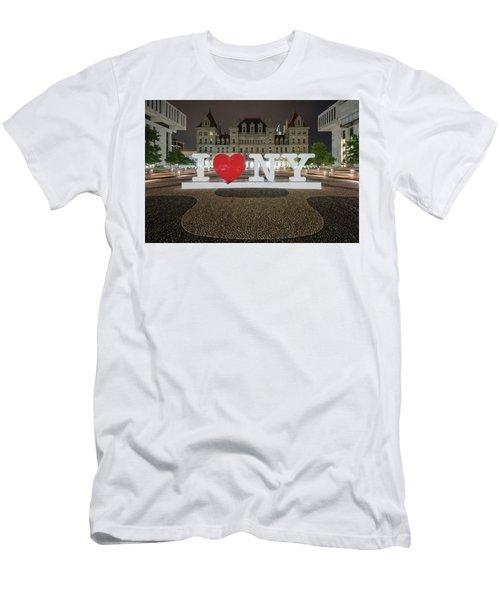 I Love Ny Men's T-Shirt (Athletic Fit)