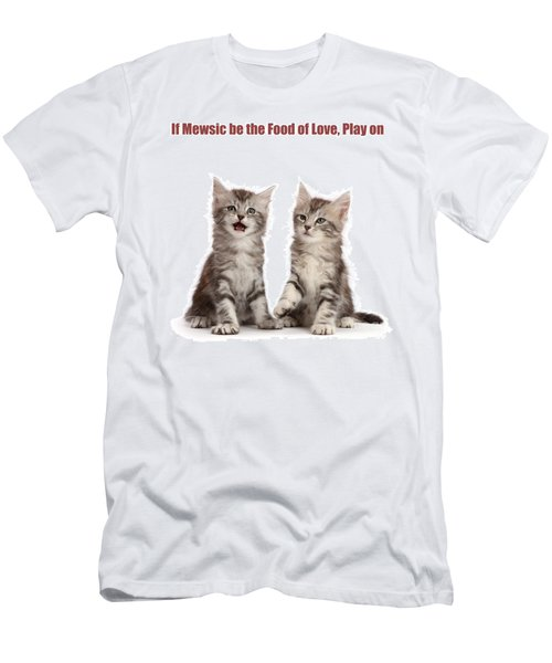 Men's T-Shirt (Athletic Fit) featuring the photograph If Mewsic Be The Food Of Love, Play On by Warren Photographic