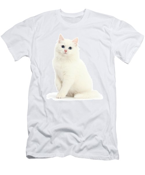 Men's T-Shirt (Athletic Fit) featuring the photograph I'm All White by Warren Photographic