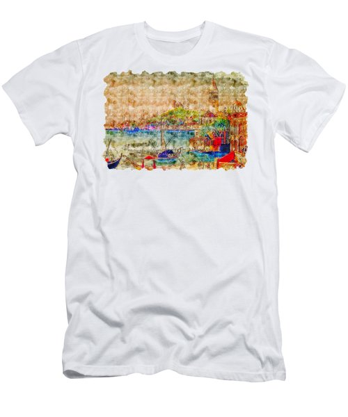 Impressionist Watercolor Drawing - Istanbul Men's T-Shirt (Athletic Fit)
