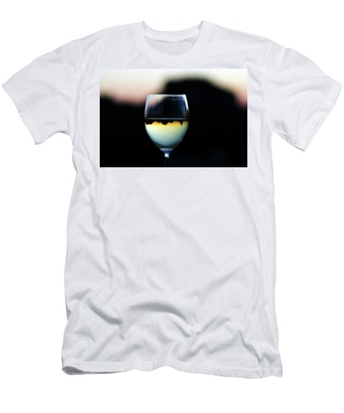 Inverted Landscape In Wine Glass Men's T-Shirt (Athletic Fit)