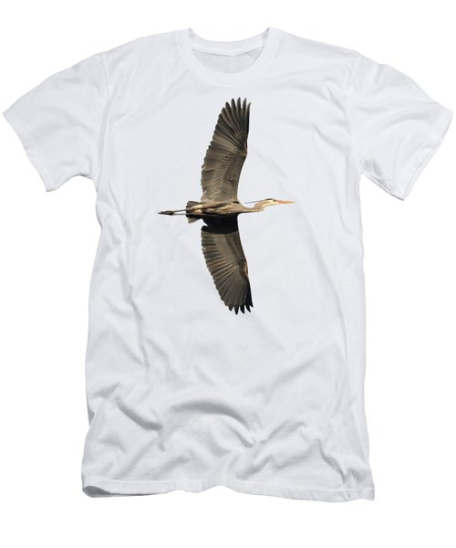 Isolated Great Blue Heron 2018-1 Men's T-Shirt (Athletic Fit)