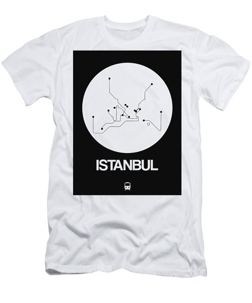 Istanbul White Subway Map Men's T-Shirt (Athletic Fit)