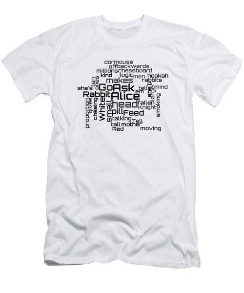 Jefferson Airplane - White Rabbit Lyrical Cloud Men's T-Shirt (Athletic Fit)