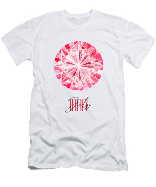 July Birthstone - Ruby Men's T-Shirt (Athletic Fit)
