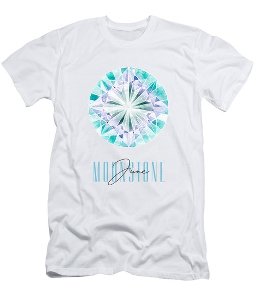 June Birthstone - Moonstone Men's T-Shirt (Athletic Fit)