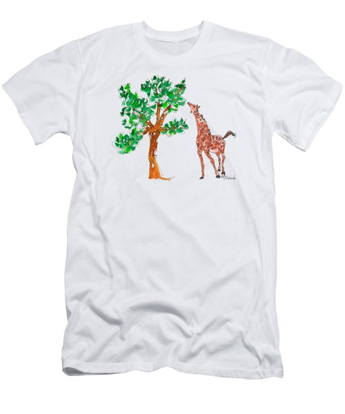 Jungle Giraffe Reach Men's T-Shirt (Athletic Fit)