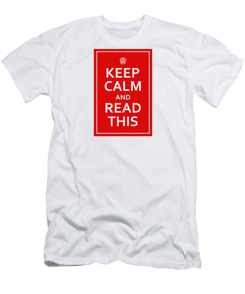 Keep Calm - Read This Men's T-Shirt (Athletic Fit)