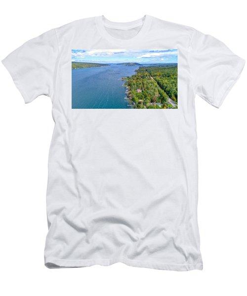 Keuka Center Point Men's T-Shirt (Athletic Fit)