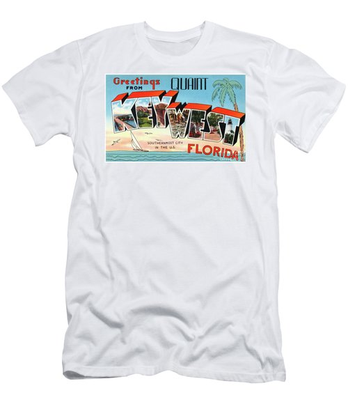 Key West Greetings Men's T-Shirt (Athletic Fit)