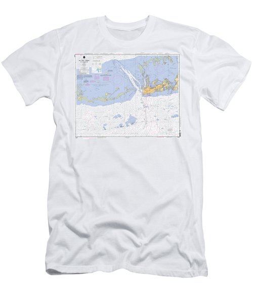 Key West Harbor And Approaches, Noaa Chart 11441 Men's T-Shirt (Athletic Fit)
