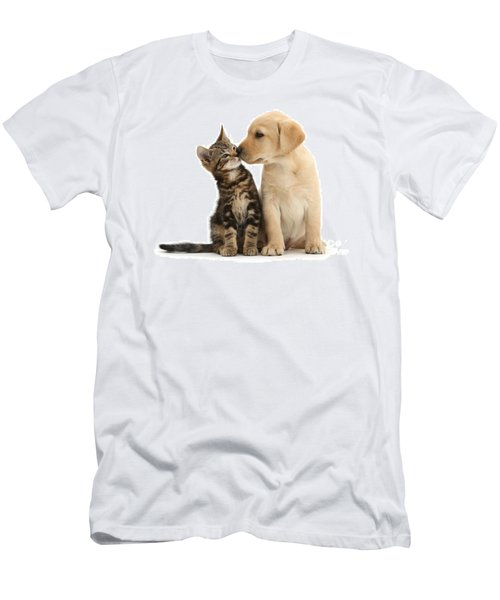 Men's T-Shirt (Athletic Fit) featuring the photograph Kisses For My Darling by Warren Photographic