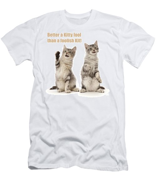 Men's T-Shirt (Athletic Fit) featuring the photograph Kitty Fools by Warren Photographic