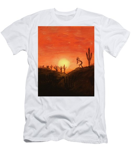 Kokopelli's Sunset Song Men's T-Shirt (Athletic Fit)