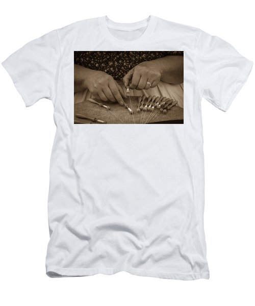 Men's T-Shirt (Athletic Fit) featuring the photograph Lacemaker 1364 by Guy Whiteley