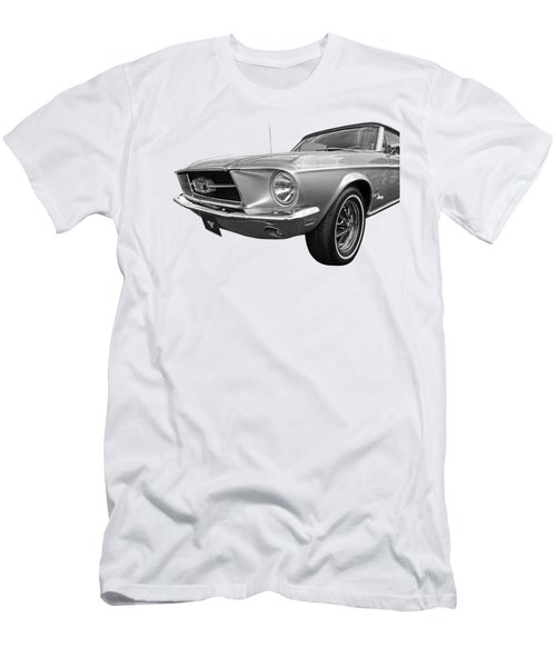 Lazy Days - Black And White Men's T-Shirt (Athletic Fit)