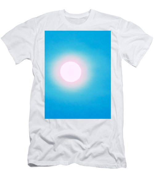 Men's T-Shirt (Athletic Fit) featuring the photograph Leo Blue Moon In Turquoise by Judy Kennedy