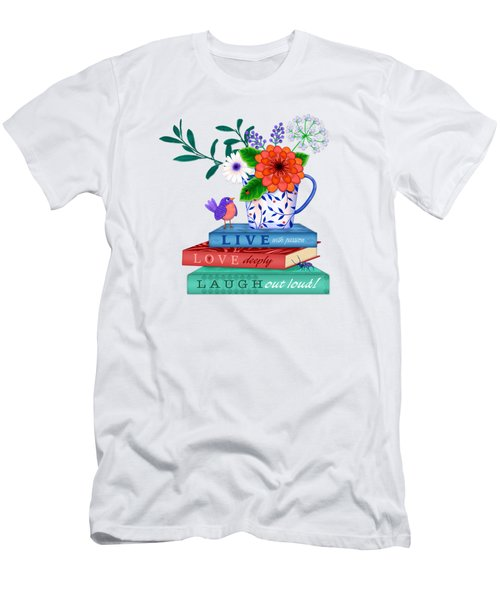 Live Laugh Love Men's T-Shirt (Athletic Fit)