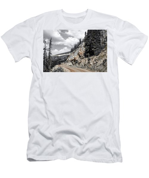 Men's T-Shirt (Athletic Fit) featuring the photograph Living On The Edge by Melissa Lane