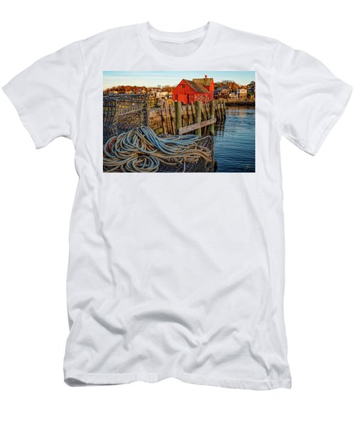 Lobster Traps And Line At Motif #1 Men's T-Shirt (Athletic Fit)