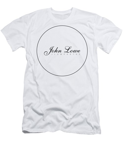 Logo White Background Men's T-Shirt (Athletic Fit)