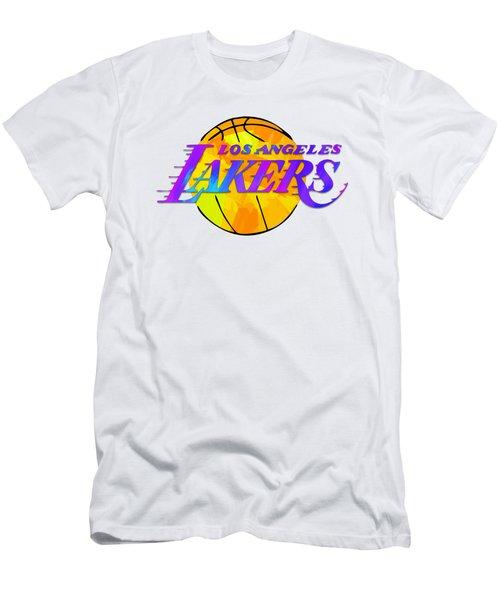 Los Angeles Lakers Paint Design Men's T-Shirt (Athletic Fit)
