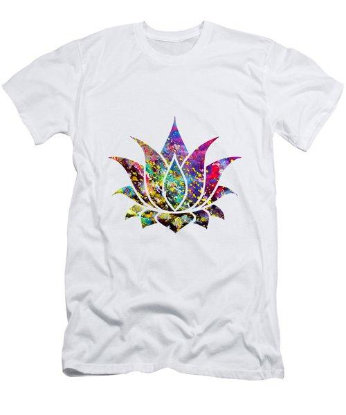 Lotus-colorful Men's T-Shirt (Athletic Fit)
