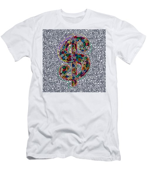 Louis Vuitton Dollar Sign-5 Men's T-Shirt (Athletic Fit)
