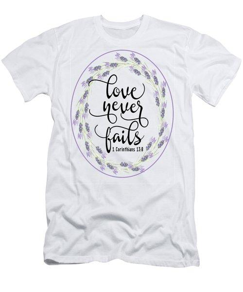 Love Never Fails' Men's T-Shirt (Athletic Fit)