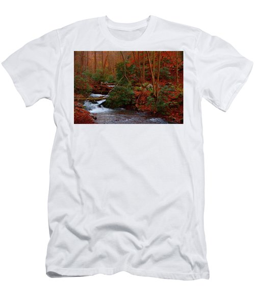 Men's T-Shirt (Athletic Fit) featuring the photograph Lower Dunnfield Creek In The Fall by Raymond Salani III
