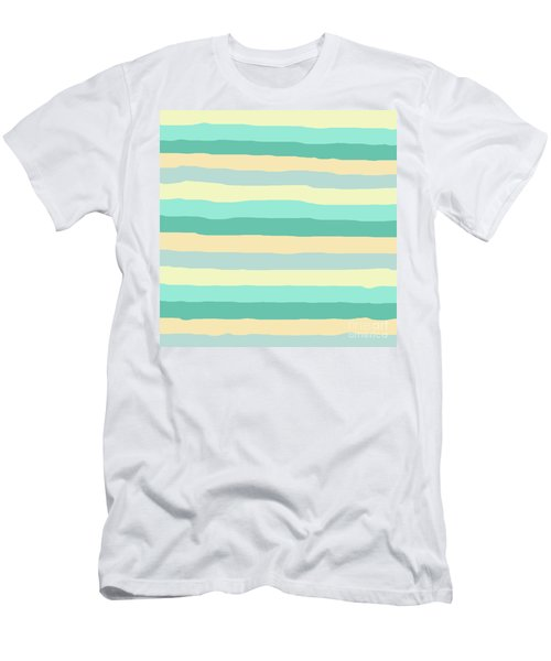 lumpy or bumpy lines abstract and summer colorful - QAB271 Men's T-Shirt (Athletic Fit)