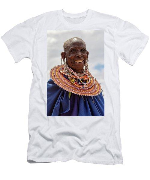Maasai Woman In Tanzania Men's T-Shirt (Athletic Fit)
