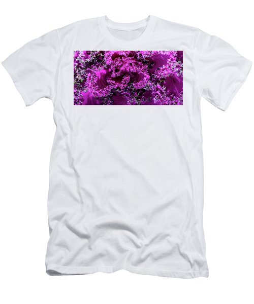 Men's T-Shirt (Athletic Fit) featuring the photograph Magenta Cabbage by Mark Shoolery