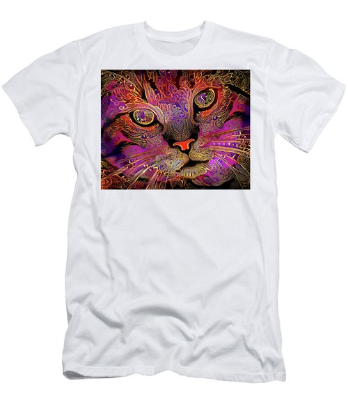 Maggie May The Magenta Tabby Cat Men's T-Shirt (Athletic Fit)