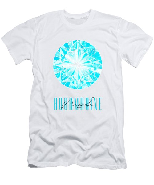 March Birthstone - Aquamarine Men's T-Shirt (Athletic Fit)