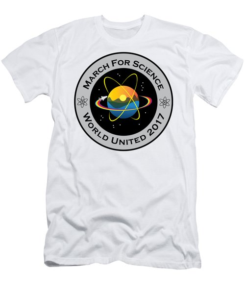 March For Science Astronaut Men's T-Shirt (Athletic Fit)