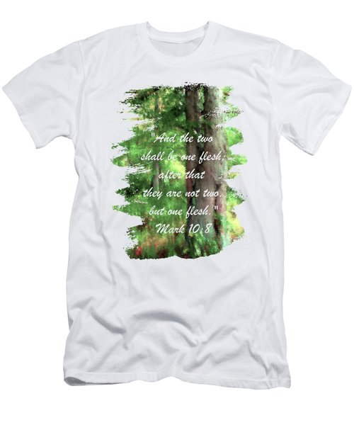 Marriage Tree - Verse Men's T-Shirt (Athletic Fit)