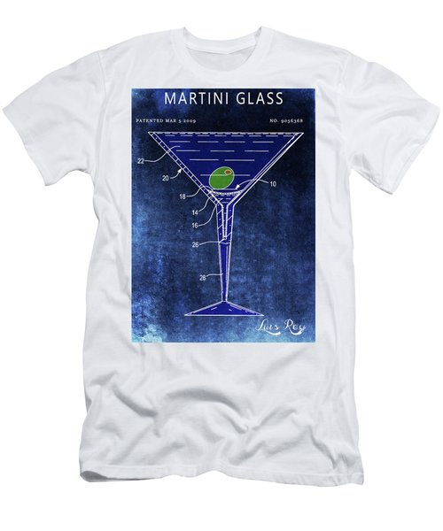 Martini Glass Design Men's T-Shirt (Athletic Fit)
