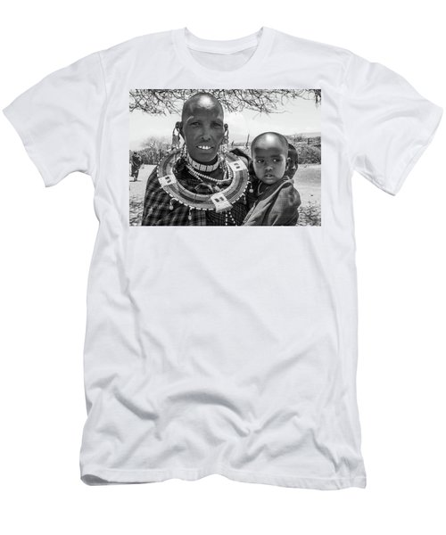 Masaai Mother And Child Men's T-Shirt (Athletic Fit)