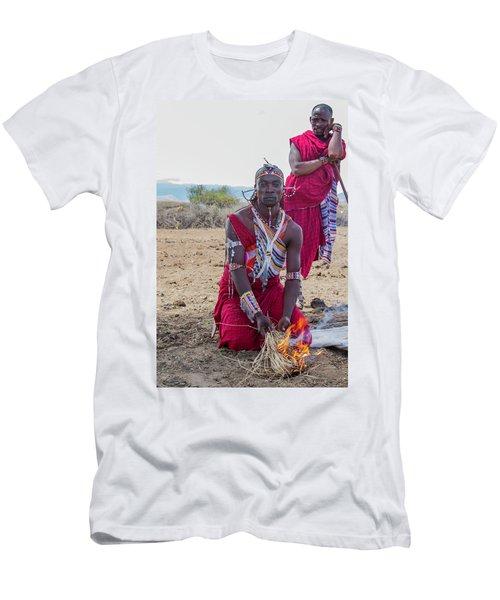 Maasai Warrior Men's T-Shirt (Athletic Fit)