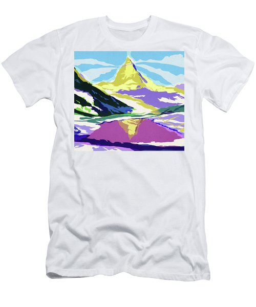 Matterhorn Snow Melt Men's T-Shirt (Athletic Fit)